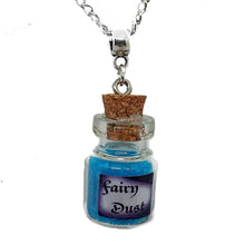 "Load image into Gallery viewer, AVBeads Jewelry Fairy Necklace with Glass Bottle Charm on 24"" Silver Plated Chain Metal"