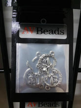 Load image into Gallery viewer, AVBeads Celtic Fairy Charms Moon Silver 25mm x 14mm Metal Charms 4pcs