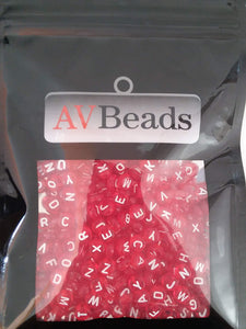 AVBeads Acrylic Beads Spacer Alphabet Letter Beads 7mm Red 2oz approx. 400pcs