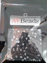 Load image into Gallery viewer, AVBeads Acrylic Beads Spacer Alphabet Letter Beads 7mm Black 2oz approx. 400pcs
