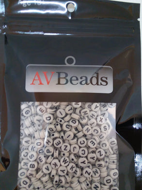 AVBeads Acrylic Beads Spacer Alphabet Letter Beads 7mm White 2oz approx. 400pcs
