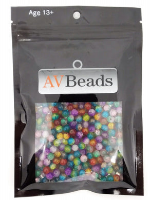 AVBeads Bulk Beads Mixed Beads Glass Beads 5oz 6mm Crackle