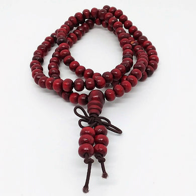 Mala Beads Bracelet Buddhist Mala Prayer Beads Buddha Blessing Necklace Wood Beads