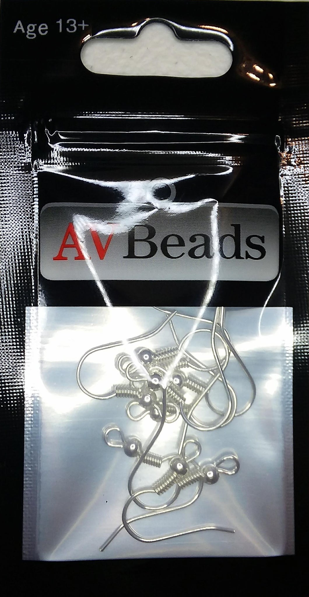 AVBeads Components Earring Hooks 18mm x 19mm Silver Plated Copper 10pcs (5pairs)