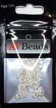 "Load image into Gallery viewer, AVBeads Curb Chain 2"" Extension Chains 50mm x 3mm Silver Plated 10pcs"