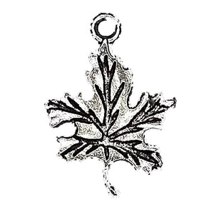 AVBeads Nature Charms Leaf Charms Silver 23mm x 16mm Metal Charms 10pcs