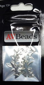 AVBeads Animal Charms Fox Charms Silver 20mm x 10mm Metal Charms 10pcs