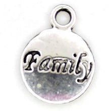 Load image into Gallery viewer, AVBeads Message Charms Family Charms Silver 15mm x 12mm Metal Charms 10pcs