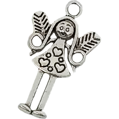 AVBeads Celtic Charms Fairy Girl Charms Gift 25mm x 15mm Silver Metal Charms 10pcs