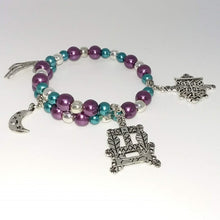 Load image into Gallery viewer, AVBeads Beaded Memory Wire Charm Bracelet Halloween Charms Handmade