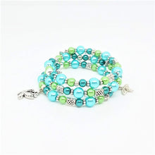 Load image into Gallery viewer, AVBeads Handmade Bug Insect Nature Glass Beaded Metal Charms Jewelry Memory Wire Bracelet Wrap 3Layer