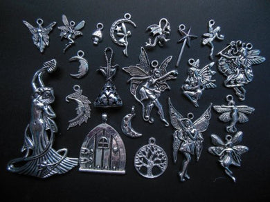 AVBeads Mixed Charms Fairy Charms Silver Metal Charms 3154 20pcs