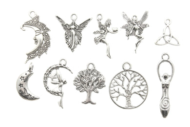AVBeads Mixed Charms Fairy Charms Silver Metal 2169 100pcs