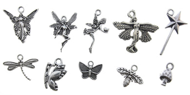 AVBeads Mixed Charms Fairy Charms Silver Metal 3312 100pcs