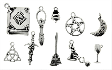 AVBeads Mixed Charms Wicca Charms Silver Metal 4232 100pcs