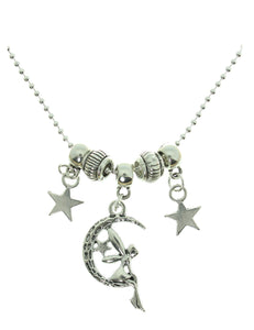 "AVBeads Jewelry 20"" Chain Necklace Celestial Fairy Moon & Stars Charms"