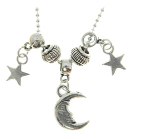 "AVBeads Jewelry 20"" Chain Necklace Celestial Moon & Stars Charms"