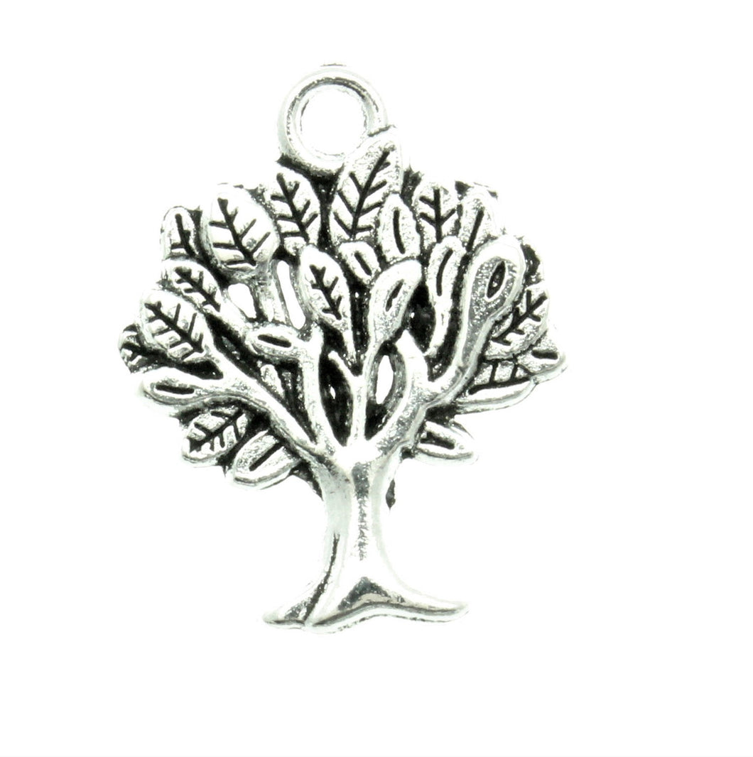 AVBeads Tree Charms 22mm x 17mm Silver CHM05574 100pcs