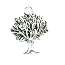 Load image into Gallery viewer, AVBeads Nature Charms Tree Charms Silver 22mm x 17mm Metal Charms 4pcs