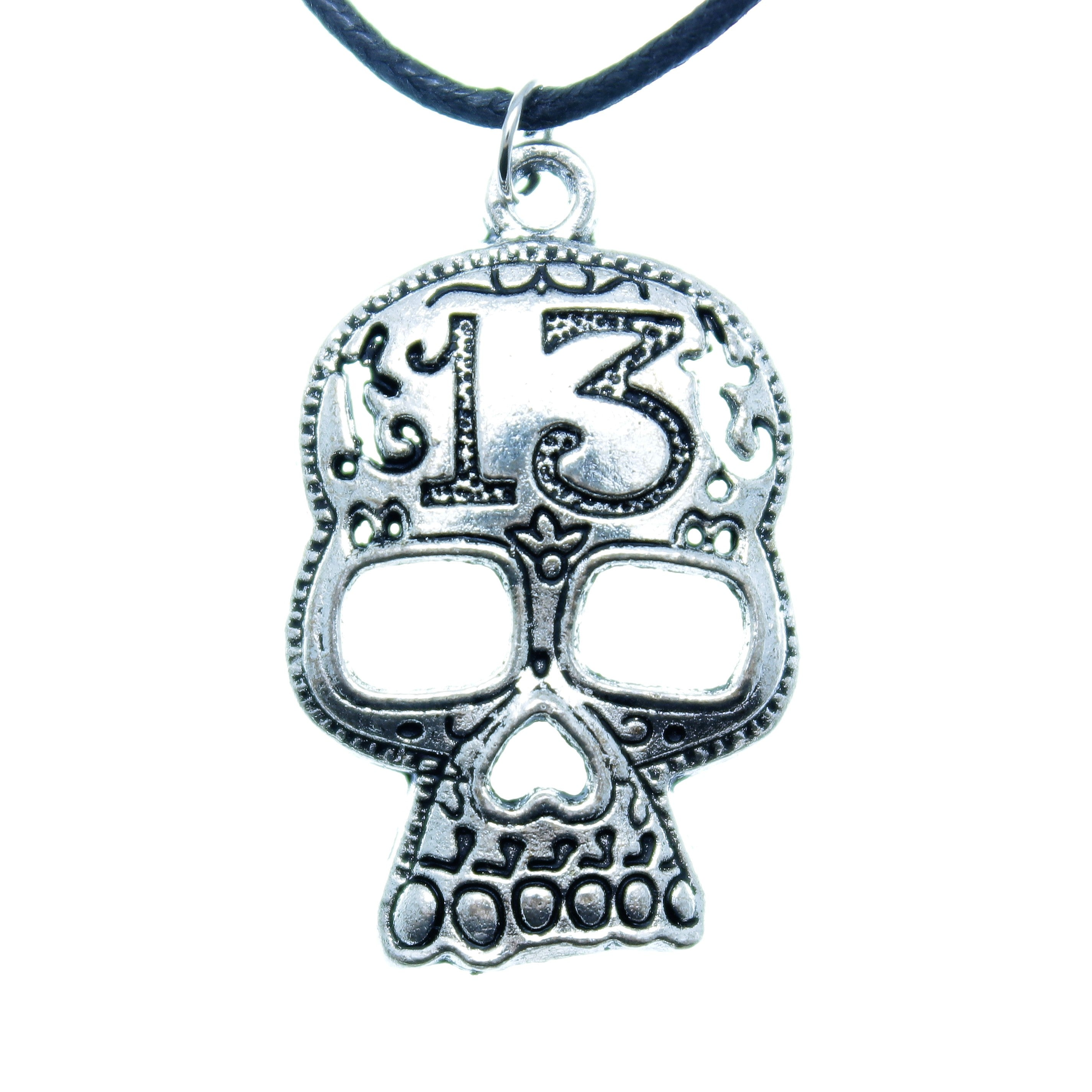 Silver Plated Peace Charm Pendant Choker Necklace with Black Cord