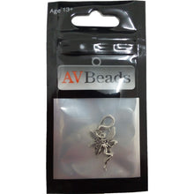 Load image into Gallery viewer, AVBeads Clip-On Charms Nymph Charm Silver Metal Pagan Charm Clip