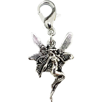 AVBeads Clip-On Charms Nymph Charm Silver Metal Pagan Charm Clip