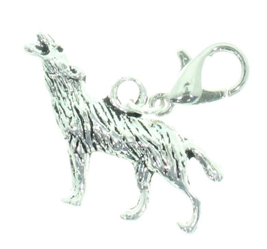 AVBeads Clip-On Charms Wolf Charm 39x18mm JWLCC09317