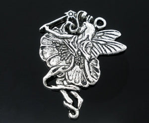 AVBeads Celtic Charms Fairy Charms Silver 36mm x 28mm Metal Charms 10pcs