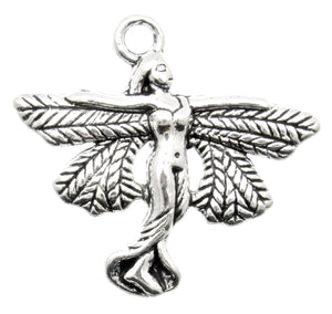 AVBeads Celtic Charms Fairy Charms Silver 21mm x 23mm Metal Charms 4pcs