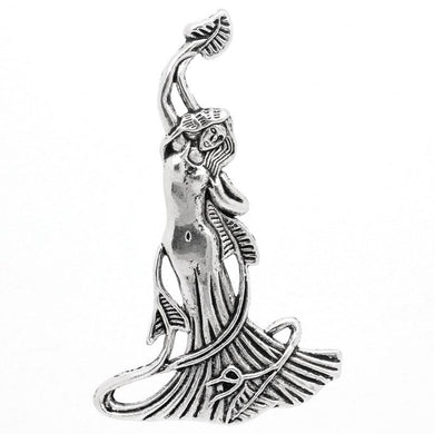 AVBeads Pagan Wiccan Fairy Goddess Gaia Silver 68mm x 42mm Metal Charms 10pcs
