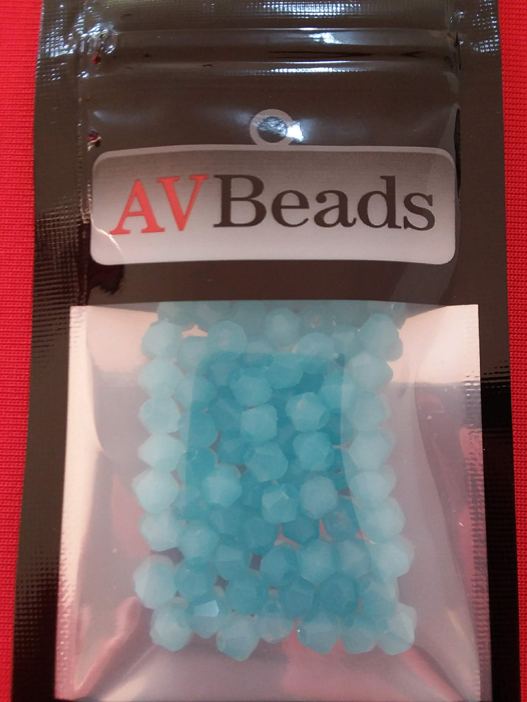 AVBeads Glass Beads Faceted Bicone Beads 4mm Blue