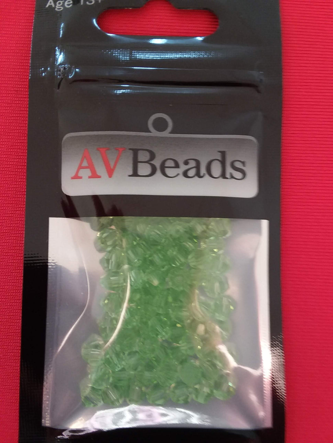 AVBeads Glass Beads Faceted Bicone Beads 4mm Green