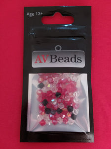 AVBeads Glass Beads Faceted Bicone Beads 4mm Mixed