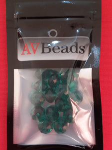 AVBeads Glass Beads Faceted Rondelle Beads 6mm x 8mm Green