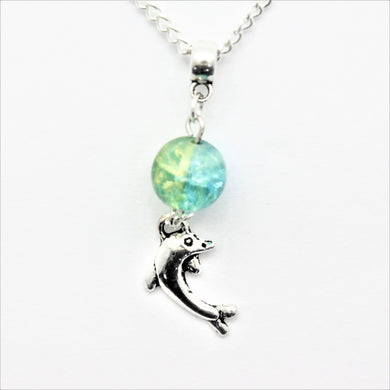 AVBeads Jewelry Beach Necklace 24-inch Y Bead Dangle Dolphin Charm JWLNCB15173