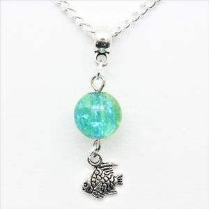 AVBeads Jewelry Beach Necklace 24-inch Y Bead Dangle Fish Charm JWLNCB00532