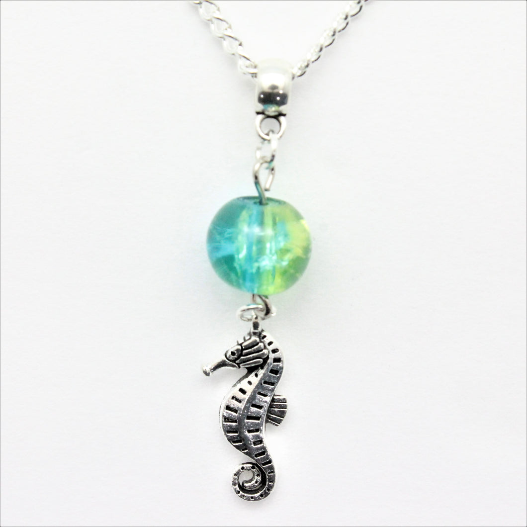 AVBeads Jewelry Beach Necklace 24-inch Y Bead Dangle Seahorse Charm JWLNCB03216a