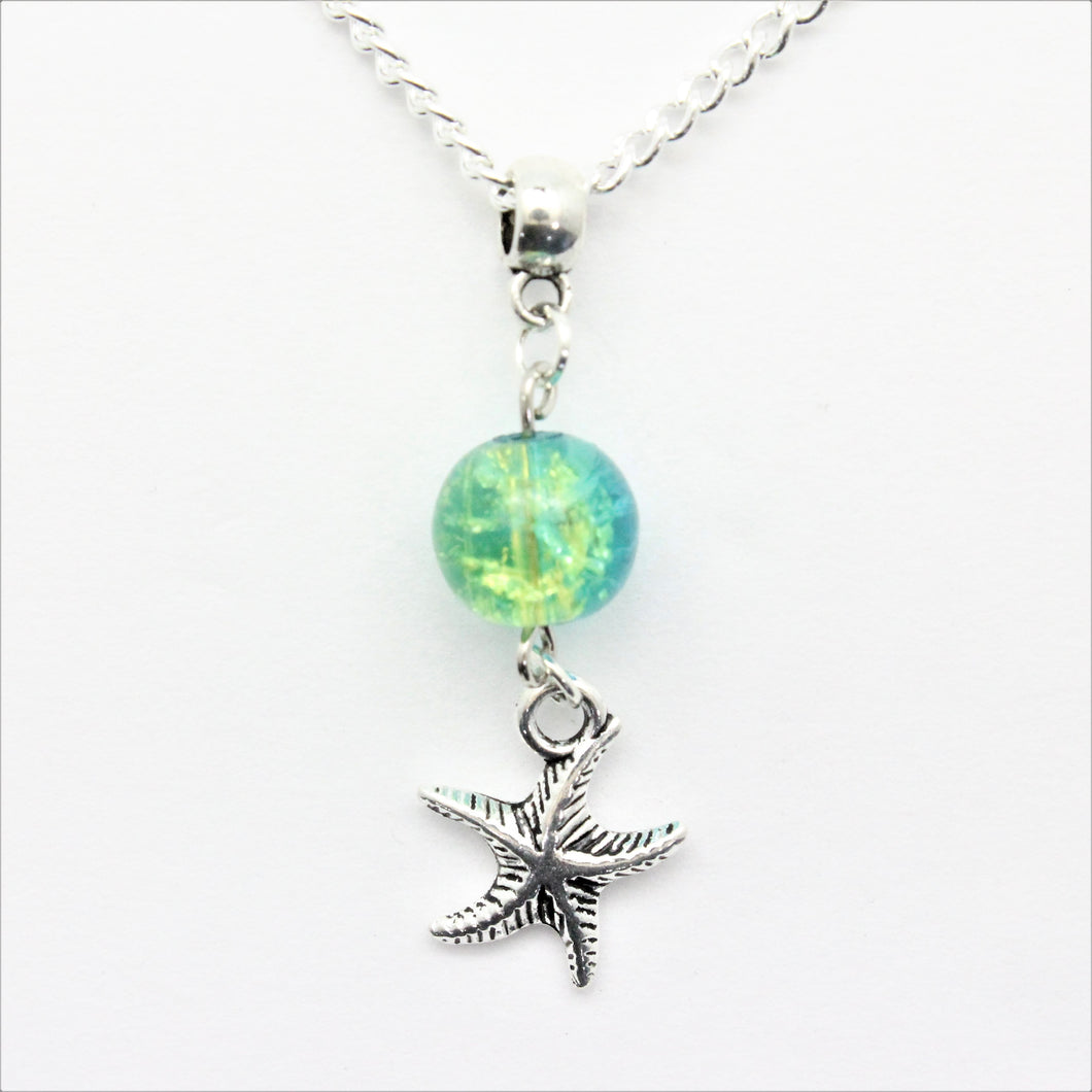 AVBeads Jewelry Beach Necklace 24-inch Y Bead Dangle Starfish Charm JWLNCBP0114