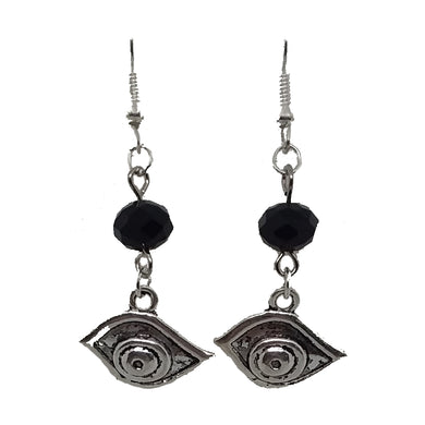 AVBeads Jewelry Charm Earrings Dangle Silver Hook Beaded Black Eye