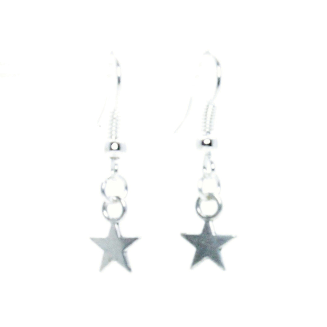 AVBeads Jewelry Charm Earrings Dangle Silver Hook Star