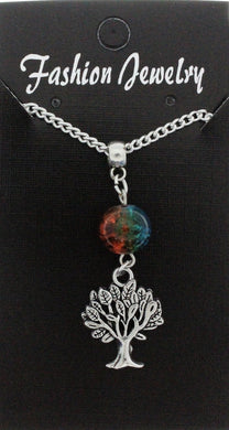 AVBeads Jewelry Charm Necklace Silver JWL-NW-BO-1003 Tree