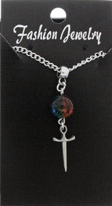 AVBeads Jewelry Charm Necklace Silver JWL-NW-BO-1006 Sword