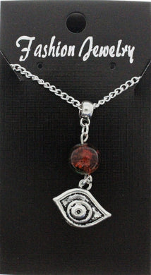 AVBeads Jewelry Charm Necklace Silver JWL-NW-BO-1009 Eye