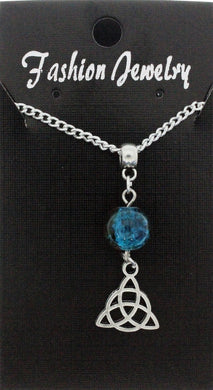 AVBeads Jewelry Charm Necklace Silver JWL-NW-BO-1015 Triquetra