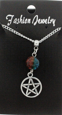 AVBeads Jewelry Charm Necklace Silver JWL-NW-BO-1017 Pentacle