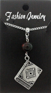 AVBeads Jewelry Charm Necklace Silver JWL-NW-BO-1021 Book