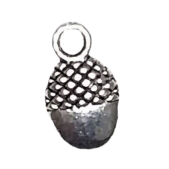 AVBeads Nature Charms Acorn Charms Oval Silver 12mm x 7mm Metal Charms 10pcs
