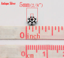 Load image into Gallery viewer, AVBeads Bulk Beads Metal Daisy Spacer 5mm Silver BMB00900 18g (approx 100pcs)