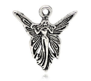 AVBeads Celtic Fairy Angel Charms Silver 19mm x 20mm Metal Charms 4pcs