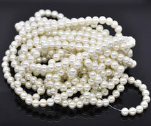 Load image into Gallery viewer, Bulk 840pcs Czech Style Pressed Glass Satin Painted Round Strand Beads Beading Jewelry Making 8mm Ivory 15 strands 56pcs per string